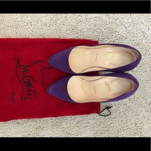 Hi Elisa 100 Louboutin purple Leather Pumps 7.5